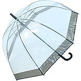 Regenschirm Transparent / Durchsichtig Glockenschirm schwarz
