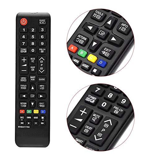 Yosoo Health Gear Samsung Fernbedienung TV, Control Remoto BN59-01175N Samsung TV fácil de agarrar sin programación para el hogar