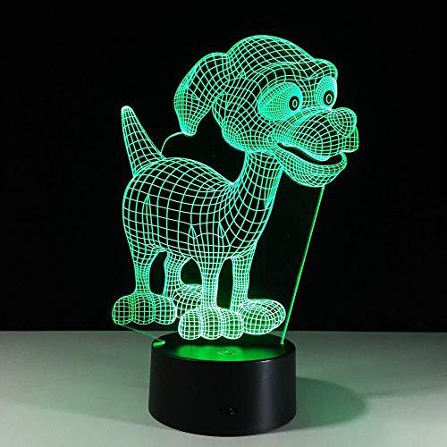 Leuke puppen-bureau nachtlampje babykamer cartoon 3D nachtlampje babybed led-licht slaap nachtlampje met ronde touch base, nieuw cadeau