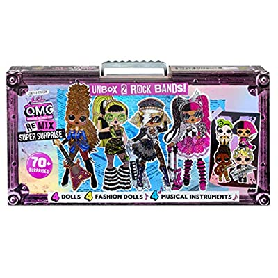 L.O.L. Surprise! O.M.G. Remix Super Surprise – 70+ Surprises, 4 Fashion Dolls & 4 Dolls from MGA Entertainment