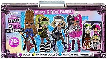 L.O.L. Surprise! OMG Remix Super Surprise with 70+ Surprises Including 4 Fashion Dolls and 4 Dolls (Sisters), Rock...