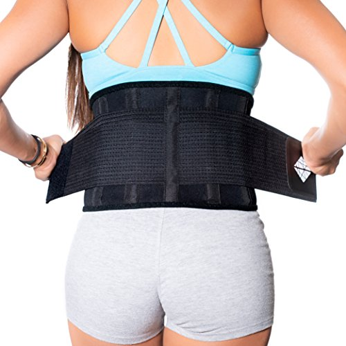 NeoHealth Lower Back Brace |Plus Size| up to 60 inch | Posture Recovery, Workout, Herniated Disc Pain Relief | Waist Trimmer Weight Loss Ab Belt | Exercise Adjustable | Women & Men Oversize 4XL