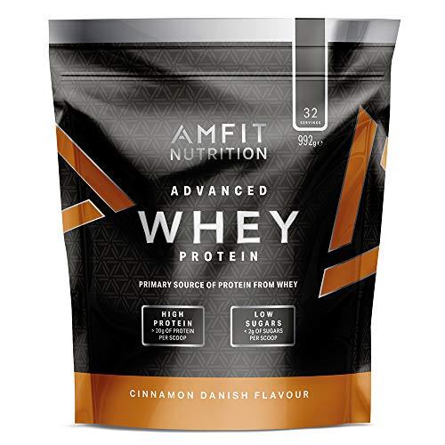Amazon-Marke: Amfit Nutrition Advanced Whey Protein Eiweißpulver mit Zimtgeschmack, 32 Portionen, 992 g