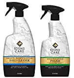 Product Image of the Stone Care International Granite Stone Cleaner and Polish Combo for Granite Marble Soapstone Quartz Quartzite Slate Limestone Corian Laminate Tile Countertop