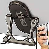 MOBI HANDLE Phone Ring Holder - 3-Finger Grip Kickstand, Comfortable Slim Secure, Durable Metal, Ideal for Magnetic Car Mounts, Selfies, Texting or Travel (Black)