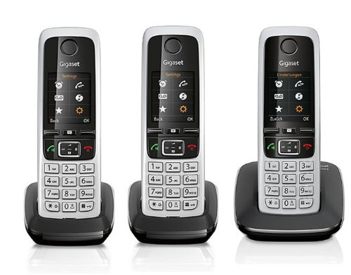 Gigaset C430 / C 430 TRIO schwarz mit insgesamt 3 Mobilteilen