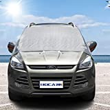 Car Windshield Sun Shade Cover - Blocks UV Rays Sun Visor Protector, Sunshade to Keep Vehicle Cool, Universal Fit for Cars, Compact, Vans and SUVs, Snow Ice Frost Dust Water Resistan(XL: 98.5 x 51.6)