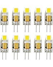 JMSL 10X G4 LED-glödlampor 1,5 W, kall vit, AC/DC12 V, SMD LED energisparlampa
