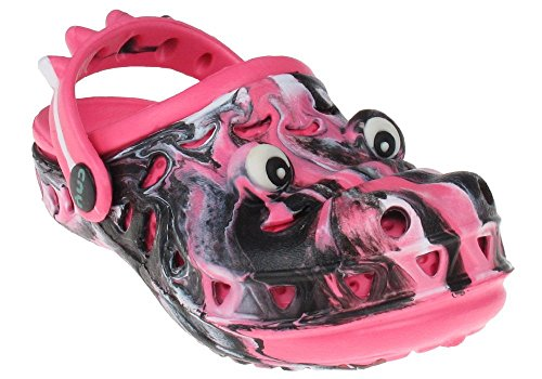 Capelli New York Toddler Girls Later Gator Tie Dye Injected Eva Clog with Contrast Sock Black Combo 6/7