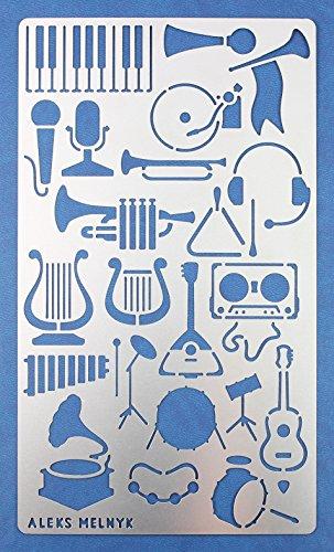 Aleks Melnyk #18 Plantilla Stencil de Metal para estarcir/Musica/para Arte Manualidades y decoración/Plantilla para Estarcidos/para Pintar...