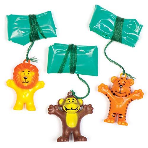 Baker Ross - Paracaídas de Animales para niños (Pack de 8) - Regalos para Bolsas de cotillón (AV162)