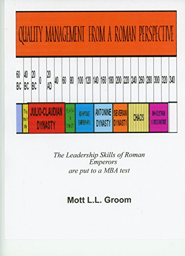 Quality Management from a Roman Perspective: The Leadership Skills of Roman Emperors are put to a MBA test (Italian Notebook Press Walk Around Rome Series 1) (English Edition)