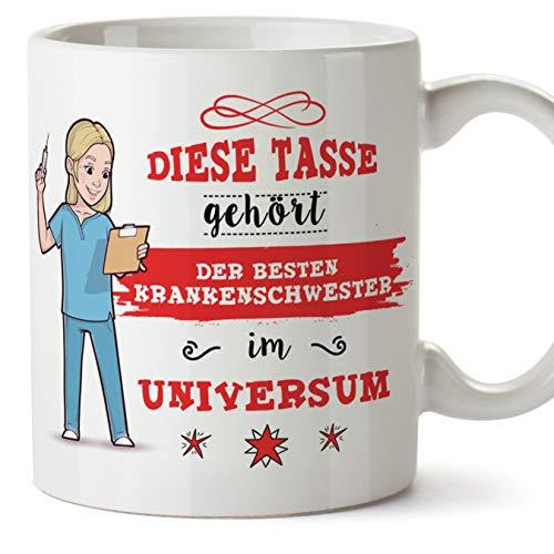 Mugffins Krankenschwester Tasse/Becher/Mug Geschenk Schöne and lustige kaffetasse - Diese Tasse gehört der besten Krankenschwester im Universum - Keramik 350