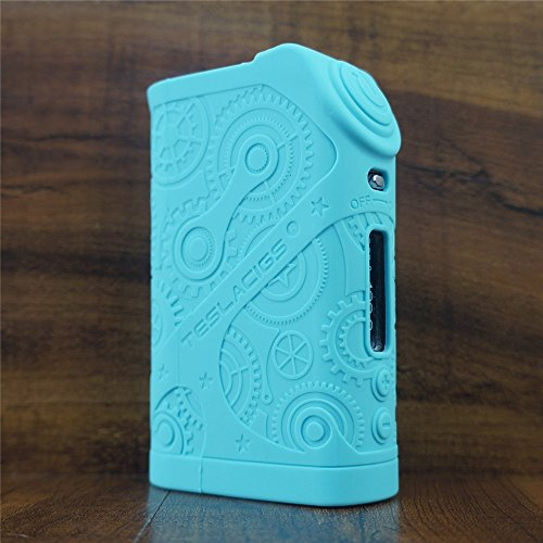 ModShield for Tesla Steampunk Nano 120W Silicone Case ByJojo Teslacigs Steam Punk Skin Cover Sleeve Wrap Shield (Teal)