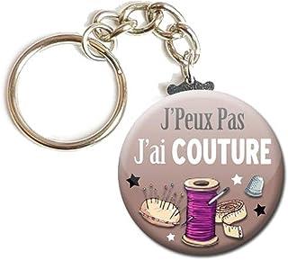 Porte Clés Chaînette 3,8 centimètres j' peux pas j' ai Couture Idée Cadeau Accessoire Humour Homme Femme Excuse