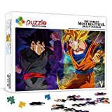 Rompecabezas 1000 Piezas para Adultos Dragon Ball: Goku Decoración Rompecabezas Juegos educativos Rompecabezas de desafío Cerebral 70x50cm