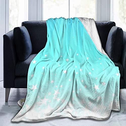 Alvaradod Manta de Tiro Personalizada,Ilustración de pie de página de Estrellas salpicando hacia Abajo,Manta de Felpa Suave para sofá,Dormitorio,Viaje,Manta mullida 50'X60'