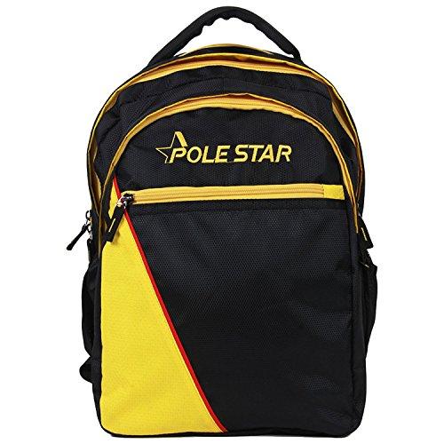 Polestar Atlas 34 Ltrs Black & Yellow Casual Backpack