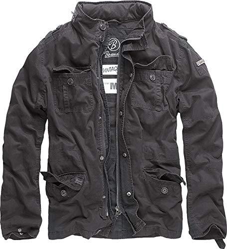 Brandit Britannia Vintage Herren Military M65 Style kurz Army Leichte Jacke L Schwarz