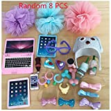 Pet Shop LPS Clothes Skirt Accessories Phone Necklaces Hat (8PCS Random) Suit for LPS Cat and Dog (Ship from USA)