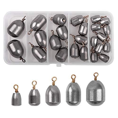 Juego de accesorios de pesca, pesas, plomos, pesas, kit de pesca, kit de aparejos de pesca, anzuelos
