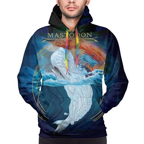 Mastodon Leviathan Hoodie Mens Long Sleeves Sport Hooded Sweatshirt 3D Printed Fleeces Black