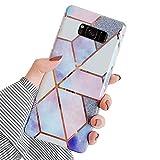 Robinsoni Cover Compatibile con Samsung Galaxy S8 Cover Marmo Bling Cristallo Strass Bumpe...