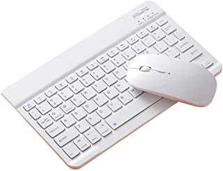 Ronyme Conjunto de Combinação de Teclado E Mouse Bluetooth 10 para Tablet PC Desktop - 10 polegadas branco