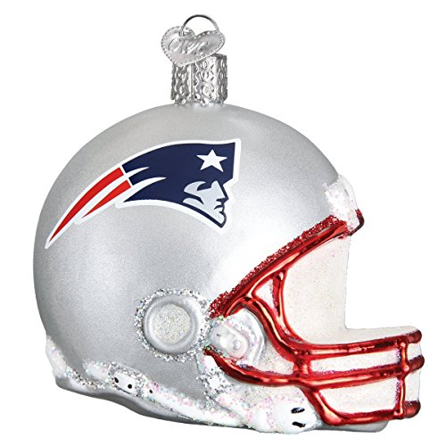 Old World Christmas Ornaments NFL New England Patriots Helmet Glass Blown Ornaments for Christmas Tree