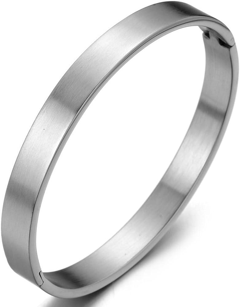 COOLSTEELANDBEYOND Classic Stainless half Steel Spasm price for Bangle Bracelet M