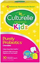 Culturelle Kids Chewable Daily Probiotic for Kids - Natural Berry - Supports Immune, Digestive, and Oral Health - For Age 3+ - Gluten,Dairy,Soy-Free - 30 count