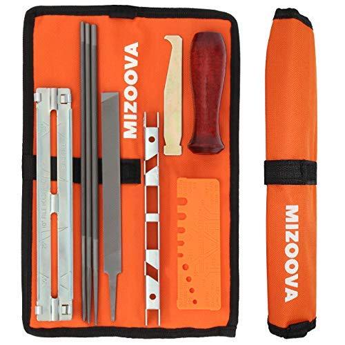Mizoova - Kettensägen Schärfer 10 Teilig Schärfgerät Kit mit Rundfeilen 4.0 - 4.8 - 5.5 mm