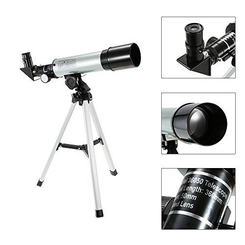 TINERS Telescopio de Zoom HD 90X para Exteriores Telescopio telescópico Monocular Observatorio de Espacio refractivo Telescopio de observación de Aves 360 x 50 mm con trípode