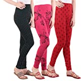 Fasha® Printed Leggings For Women And Girls Combo Of 3