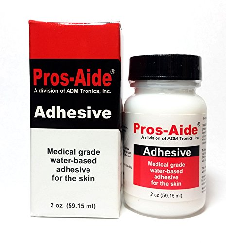 "Pros-Aide ""The Original"" Adhesive 2 oz. By ADM Tronics - Professional Medical Grade Adhesive. Dries Clear. Latex-Free! Hypoallergenic. Special Effects Makeup. Works on foam latex and prosthetics."