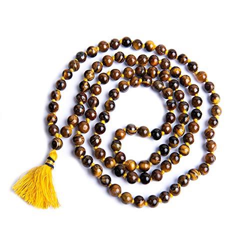 Wonder Care - Collar Original Natural de Cuentas Sagradas Mala Piedra Semipreciosa para Rosario Mala Curación Espiritual Energizada Religiosa y Meditación Mala