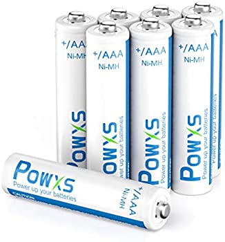8-Pack POWXS 1.2 Volt AAA Rechargeable Batteries