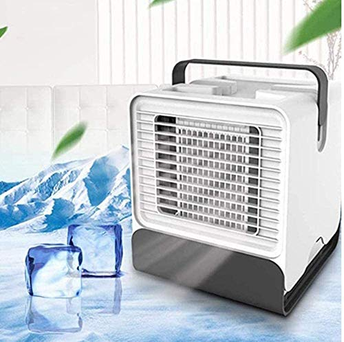Cooler pur Cube Air Cooler Klimagerät Mini Luftkühler Mobiles Klimagerät USB Klimaanlage Mobil Persönliche Tragbar Klein Verdunstungskühler Mit Wasserkühlung 3 Geschwindigkeiten-350_ML-A21 (Weiß-a32)