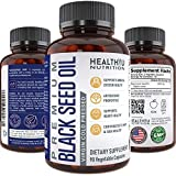 Premium Black Cumin Seed Oil Capsules - Virgin Cold Pressed Nigella Sativa Black Seed Oil Pills - Immune Support Supplement - Omega 3 6 9 Vitamin E Blackseed Oil for Joints Hair Skin 1000 mg p/serving