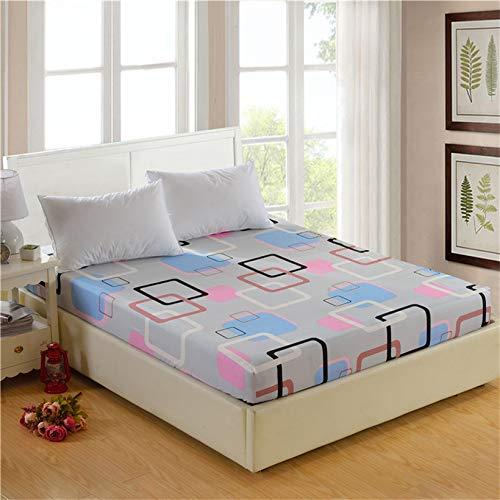 DJNCIA Home 1 funda de colchón elástica ajustable con impresión de alta calidad, 100% poliéster, tamaño personalizable. Calidad del hotel (color: Caiyunge, tamaño: 200 x 220 x 26 cm)