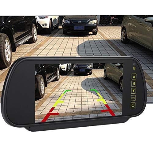 Cámaras de respaldo para vehículos,monitor de espejo retrovisor, pantalla LCD de 7 pulgadas, monitor de cámara de respaldo para cámara de visión trasera para todo t