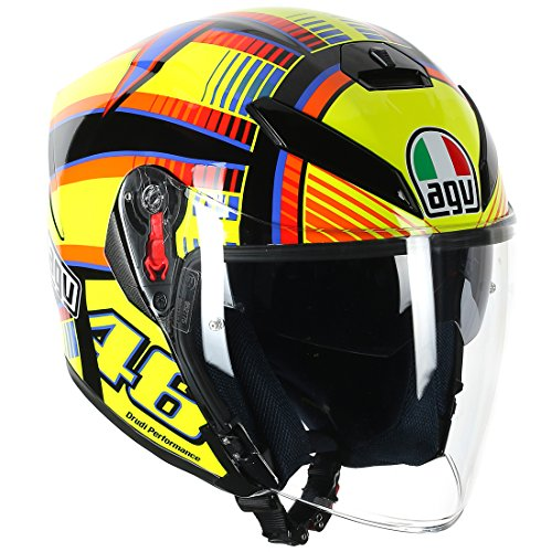 AGV(エージーブイ) バイクヘルメット ジェット K-5 JET SOLELUNA (ソレルナ) S (55-56cm) 113190G0-001-S