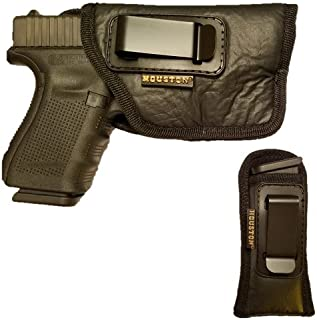 Combo ECO Leather Concealment Gun Soft Holster Inside The Waistband IWB + Magazine Pouch FITS Most MIDSIZES & Compact 9/40/45 with Laser