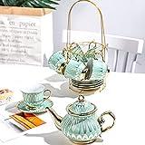 Juego de té de porcelana japonesa Royal British Daily Equipment para adultos, juego de tazas de té y platillos, juego de té de la tarde de porcelana china, set de regalo