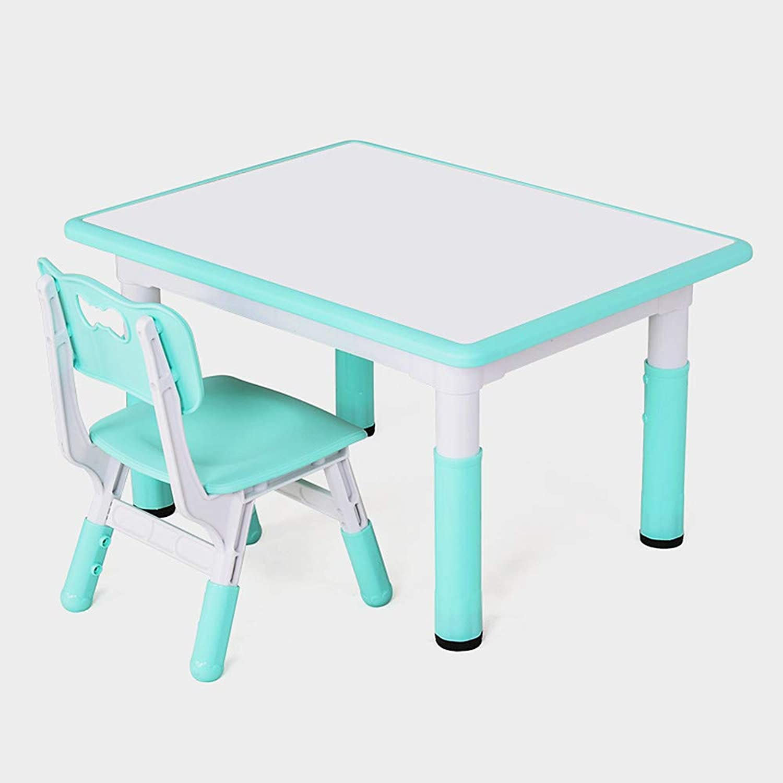Ffion Kinder Schreibtisch Stuhl Set, Hhenverstellbar, Desktop Kann Wasser-Basierte Stift Zeichnung (Wei, Blau)