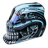 True-Fusion BioMech IQ1100 Energia solare oscuramento automatico Casco Saldatura e macinare maschera...