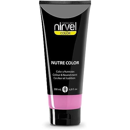 Nirvel NUTRE COLOR FLUOR Chicle 200 mL Mascarilla Profesional - Coloración temporal - Nutrición y brillo