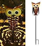 Tomshine Owl Garden Solar Lights, Outdoor Solar Light Decorative, LED OWL Garden Decoration Solar Powered Stake Light for Pathway Lawn, Patio or Courtyard