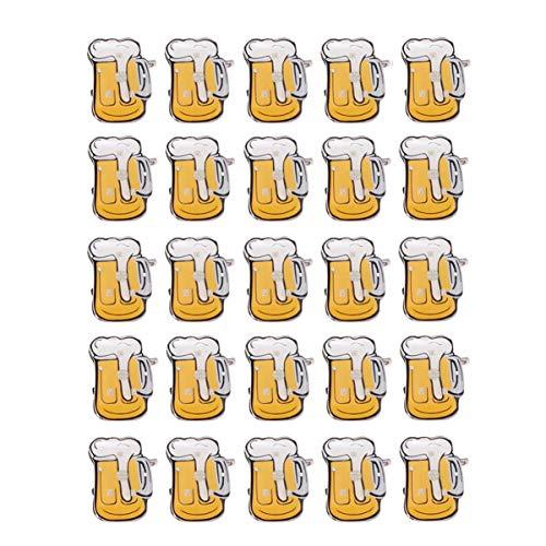 jojofuny 25 Pzas Jarra de Cerveza de Dibujos Animados con Luces LED Brillantes...