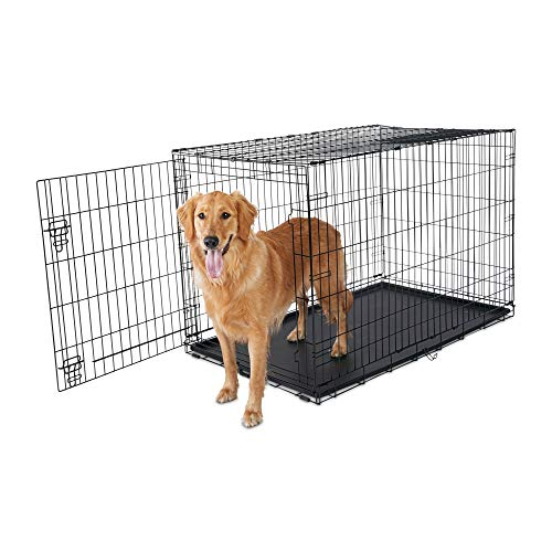 Animaze 1-Door Folding Dog Crate, 48.5' L x 30.2' W x 32' H, XX-Large, Black
